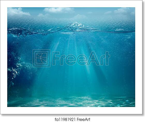 Free Art Print Of Abstract Sea And Ocean Backgrounds For