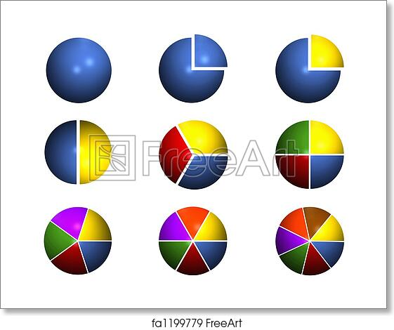 Free Art Print Of Pie Chart Collection Collection Of Pie Chart