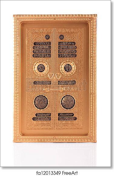 Free art print of Maquette golden door of Kaaba in Makkah Saudi Arabia