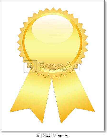 free art print of gold prize ribbon gold prize ribbon on white