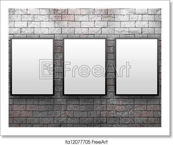 Free art print of Display Gallery With Thre Frames. Three blank ...
