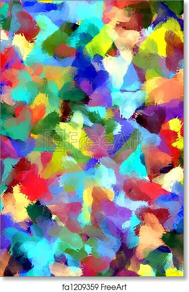 Free Art Print Of Abstract Painting Styled Background