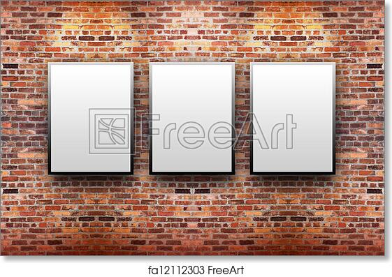 Free Art Print Of Brick Display Gallery With Frames