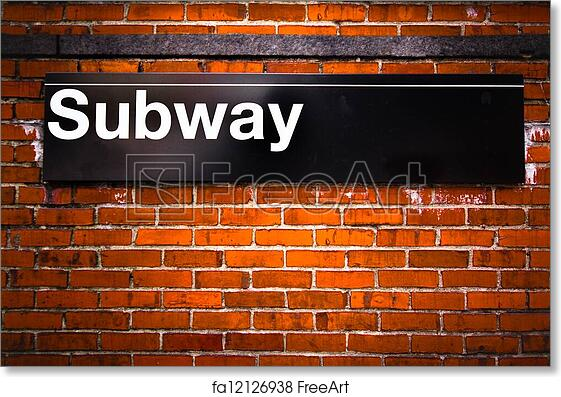 image about Subways Application Printable identified as Totally free artwork print of Subway