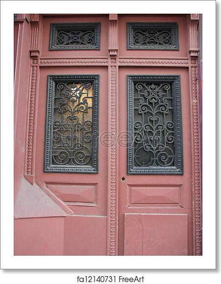 Free Art Print Of Details Of A Door In Paris Freeart