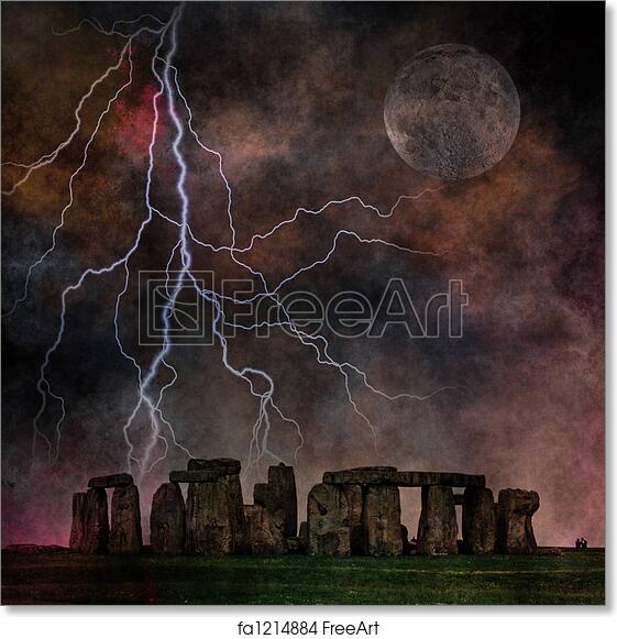 Stonehenge Hdr Art Print Home Decor Wall Art Poster I