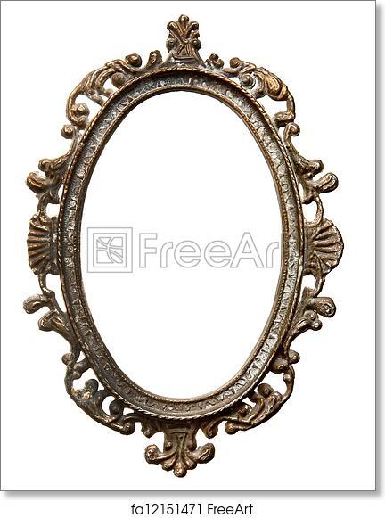 Free art print of Vintage oval frame. Vintage metal oval frame ...