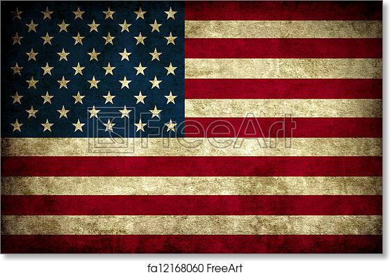 free art print of vintage usa flag old vintage usa america national
