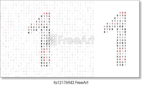 Free Art Print Of Number 1 Alphabet From Binary Code Freeart
