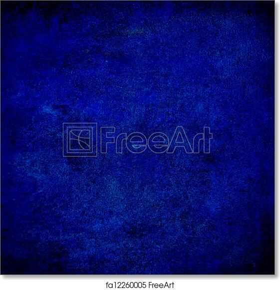 Free art print of Abstract blue background or paper with bright center  spotlight and dark border frame with grunge background texture
