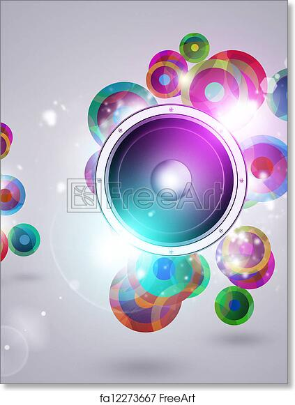free art print of colorful music funky background colorful funky