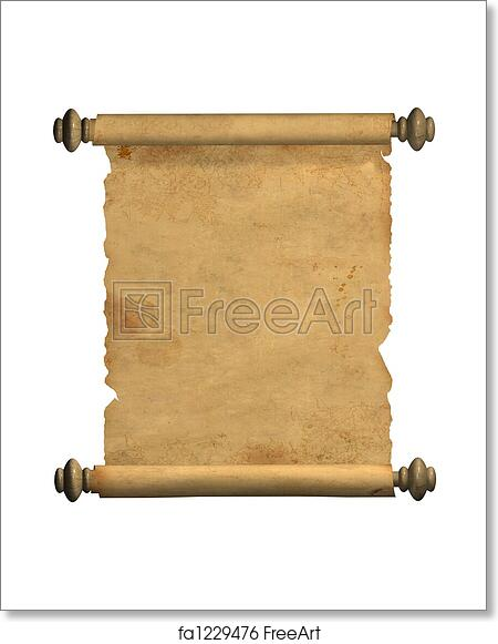 free art print of scroll of old parchment scroll of old parchment