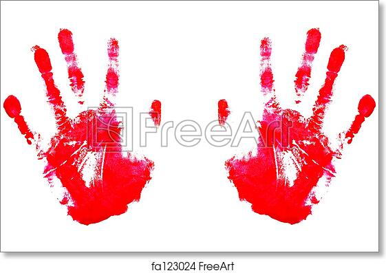 photograph about Printable Handprints identify Cost-free artwork print of Pink Handprints