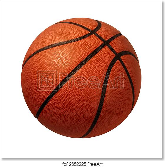 Free Art Print Of Basketball Isolated Baskeball Isolated On A White