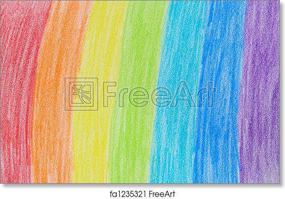 free art print of rainbow crayon drawing child s rainbow crayon