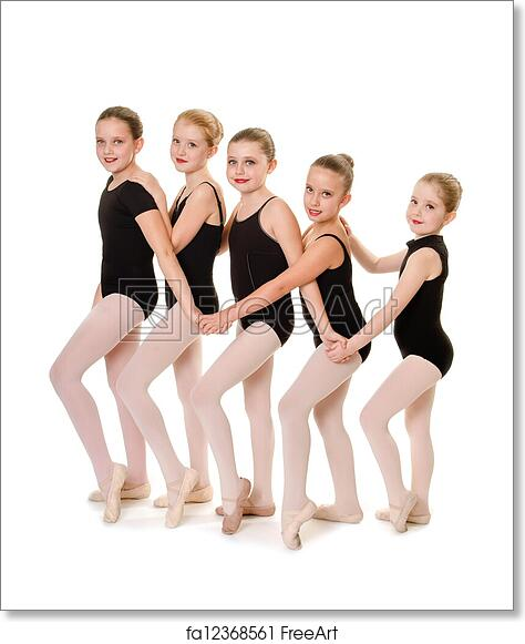 461ed45cb Free art print of Ballet Student Dance Buddies. Young Ballet Dancers Lineup  in Class | FreeArt | fa12368561