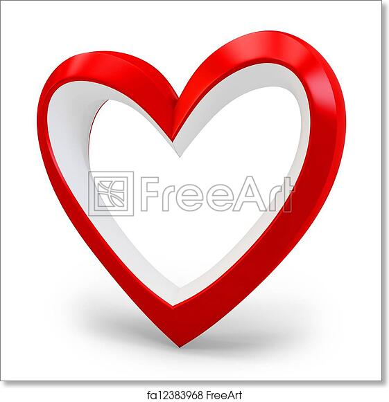 Free Art Print Of 3d Heart Shape Love You Symbol Valentines Day