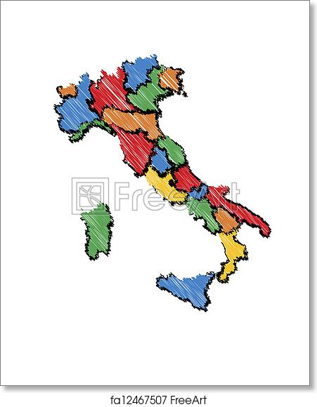 Map Of Italy For Kids.Free Art Print Of Kids Italy Map