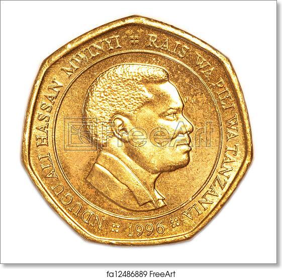 Free art print of 50 Tanzanian shilling coin