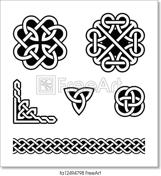 image relating to Printable Celtic Knot Patterns identify Free of charge artwork print of Celtic knots routines - vector