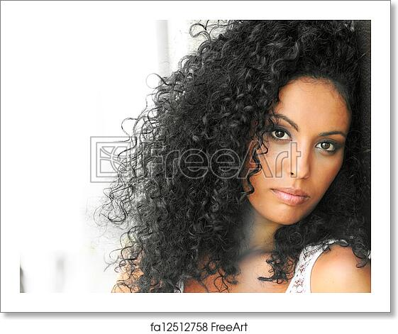 Free Art Print Of Young Black Woman Afro Hairstyle In Urban