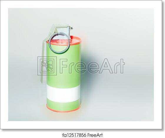 Free art print of Red smoke grenade