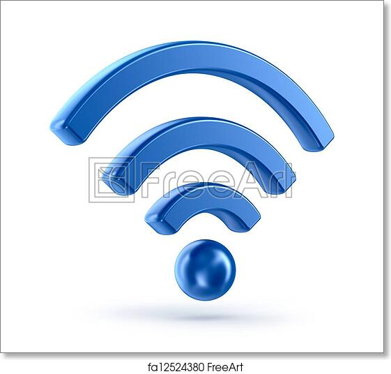 Free Art Print Of Wifi Wireless Network 3d Icon Wifi Wireless