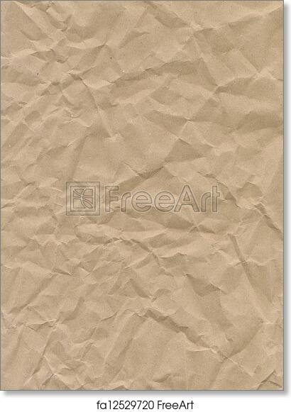 Free Art Print Of Craft Paper Texture Crumpled Craft Paper Texture
