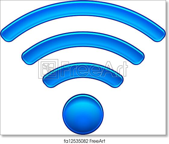 free art print of wireless network symbol wifi icon wireless Wireless Network Connection Symbol wireless network symbol wifi icon vector illustration isolated on white eps10 modes