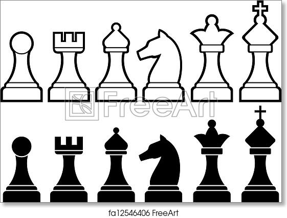 image relating to Game Pieces Printable referred to as Absolutely free artwork print of Chess areas
