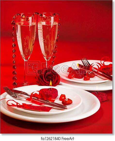 Free Art Print Of Romantic Dinner Image Of Romantic Dinner White