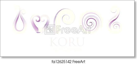 fe7a584d94e2c Free art print of Koru. A set of purple glass Maori Koru curl ...