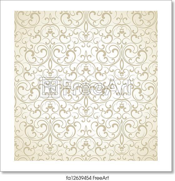 Free Art Print Of Seamless Wedding Card Background