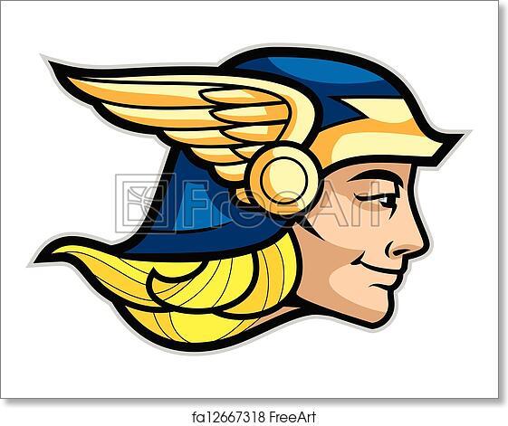 Free Art Print Of Hermes Head Of A Greek God Hermes Isolated On