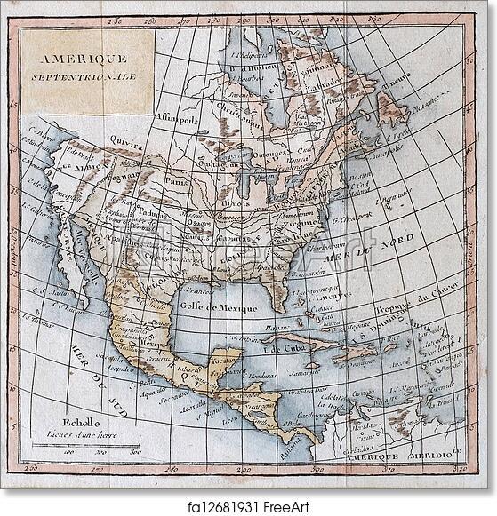 North America Map 1750.Free Art Print Of Original Antique North America Map 1750 Hand