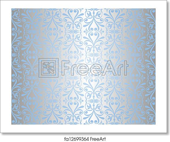 free art print of blue silver background