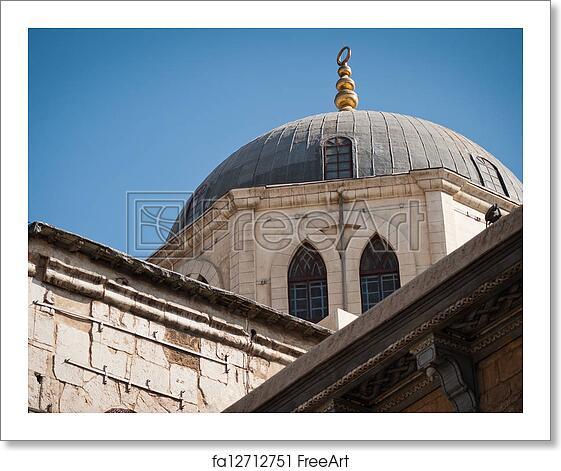 Free art print of Damascus the big Mosque Umayyad