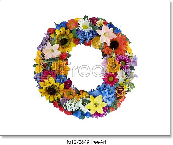 Free art print of Flower Alphabet - O. Letter O made of ...