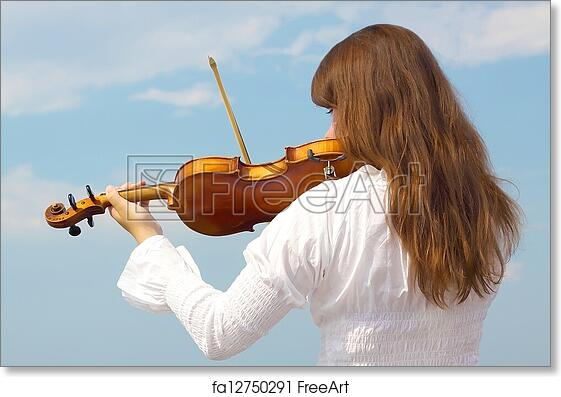 Free art print of Girl with violin