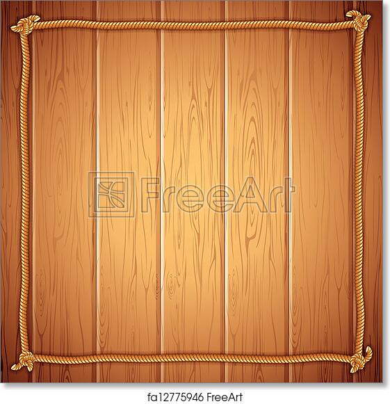 Free art print of Rope Frame on Wood. Vector Template for Yuor Text ...