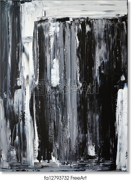 Free Art Print Of Black And White Abstract Art