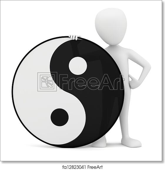 Free Art Print Of 3d Small Person Yin Yang 3d Small Person Yin
