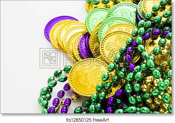 picture about Printable Tokens called Free of charge artwork print of Mardi Gras