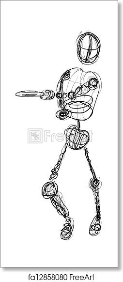 Free Art Print Of Scribble Disc Golf Throw A Sketch Or Scribble