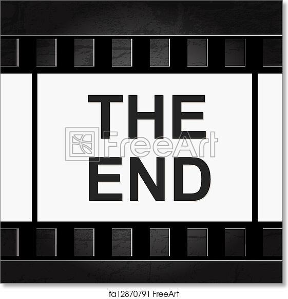 Free art print of Old filmstrip. Movie ending frame. | FreeArt ...