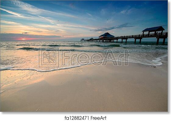 Free art print of sunset on clearwater beach sunset near for Craft fairs in clearwater fl