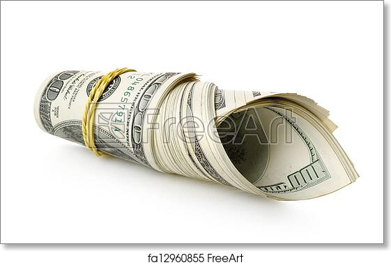 picture regarding Free Printable Money Bands identified as Free of charge artwork print of Cash wrapped within just a rubber band