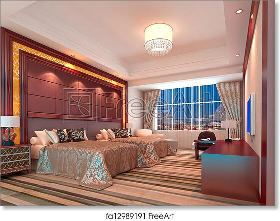 Incredible Free Art Print Of 3D Bedroom Rendering Hotel Rooms Download Free Architecture Designs Grimeyleaguecom