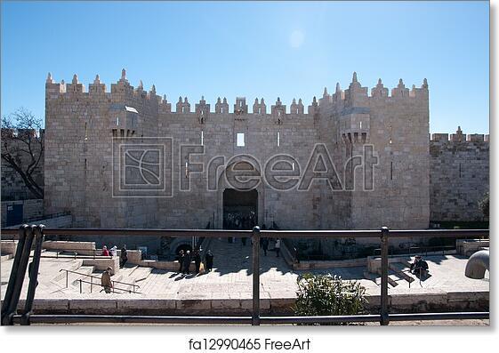Free art print of Damascus gate