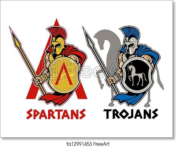 Free art print of Spartan or trojan